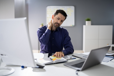 Ergonomic workspaces are great home remedies for neck and shoulder pain.