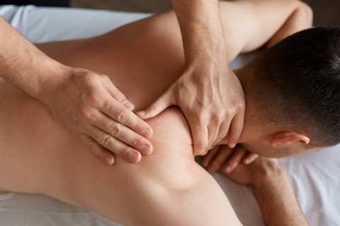 The trigger point massage combines features from different types of massage therapy techniques.
