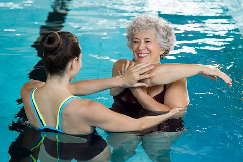 Aquatic therapy is a good natural remedy for arthritis pain.