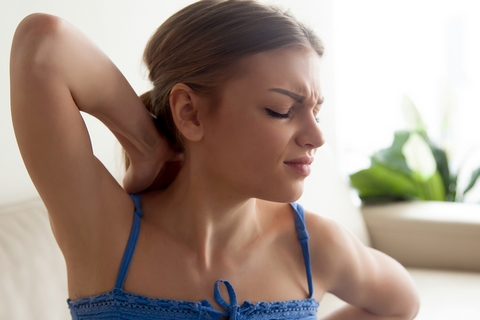 A limited range of motion is one of the pulled neck muscle symptoms.