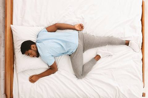 Sleeping on your stomach is not a good sleeping posture.