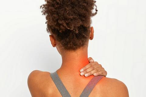 A pinched nerve may cause a stiff neck on one side